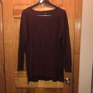 Burgundy sweater, size 1X, Worthington